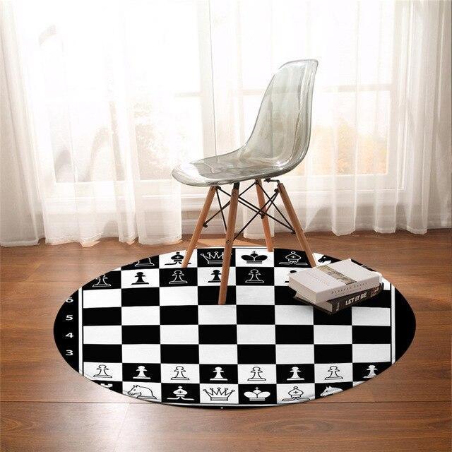Runder Teppich <br> Schach