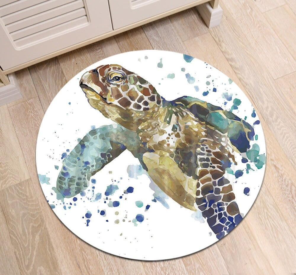 Runder Teppich <br> Schildkröte