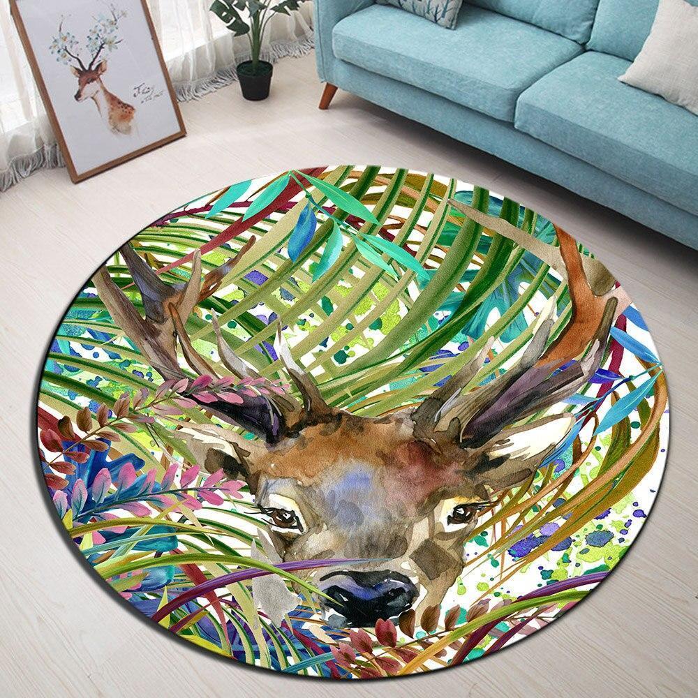 Runder Teppich <br> Schlafzimmer Dekoration