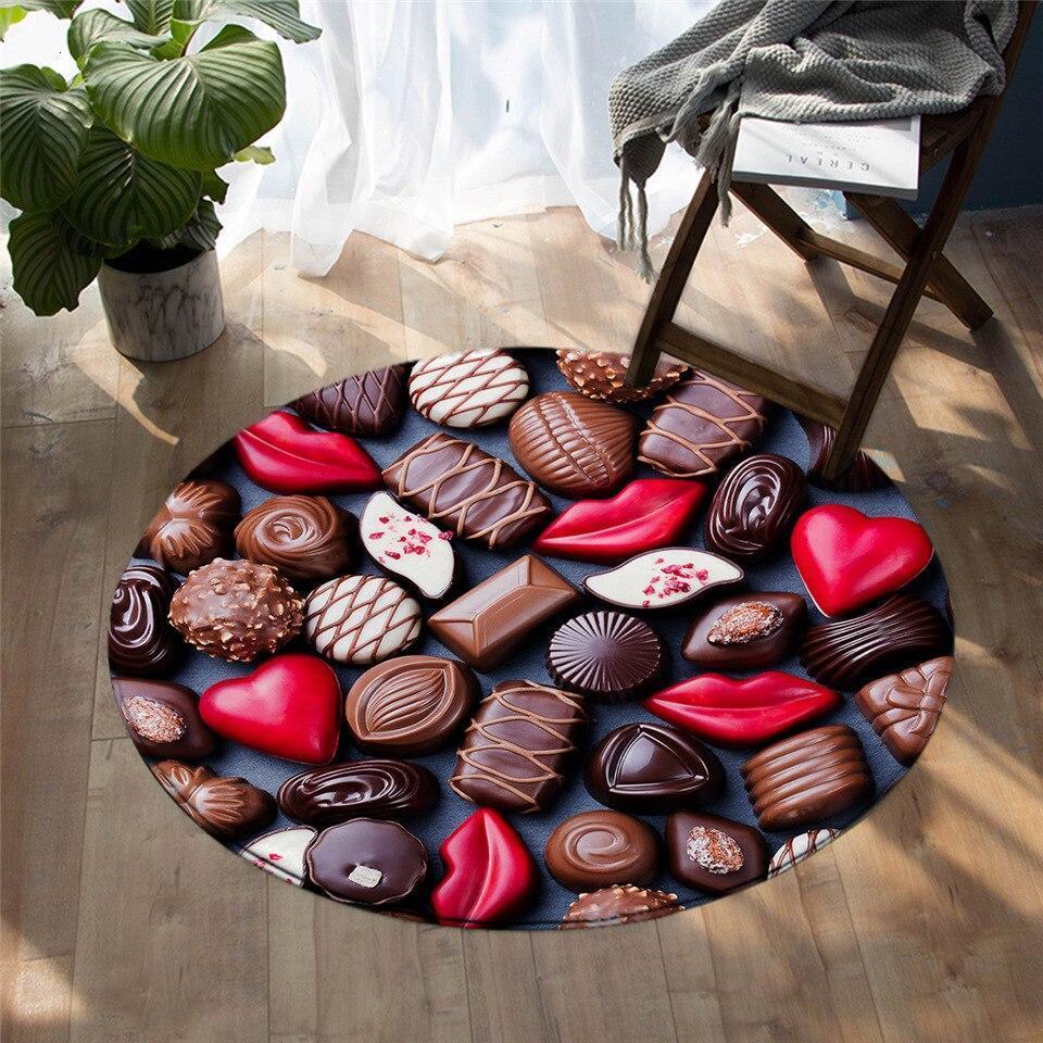 Runder Teppich <br> Schokolade