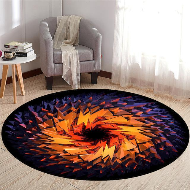 Runder Teppich <br> Schwarzes Loch