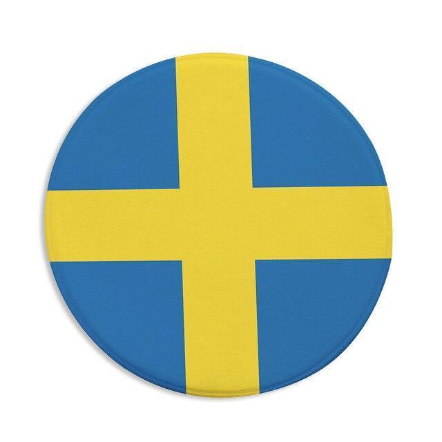 Runder Teppich <br> Schwedisch