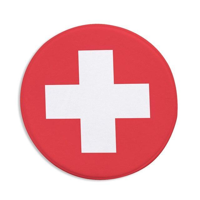 Runder Teppich <br> Schweizerisch