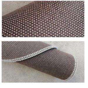 Runder Teppich <br> Silber Grau