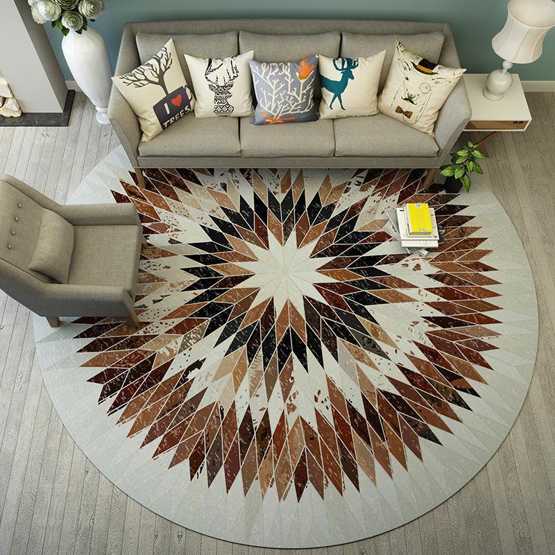 Runder Teppich <br> Skandinavisch Wohnzimmer