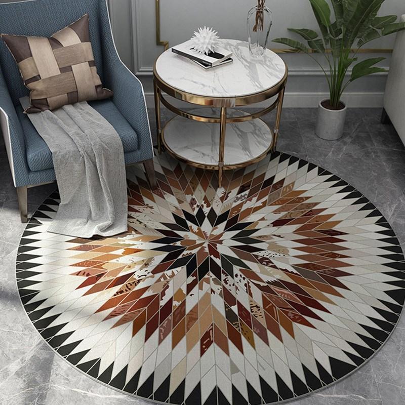 Runder Teppich <br> Skandinavischer Stil