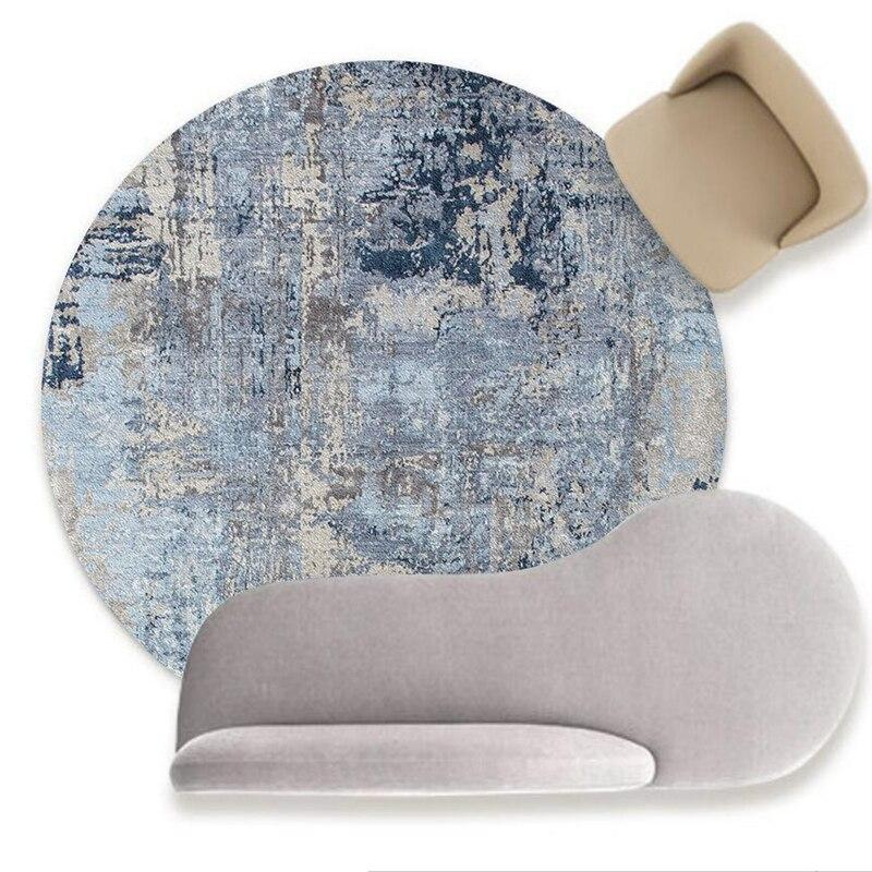 Runder Teppich <br> Skandinavisches Blau