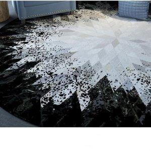 Runder Teppich <br> Skandinavisches Muster