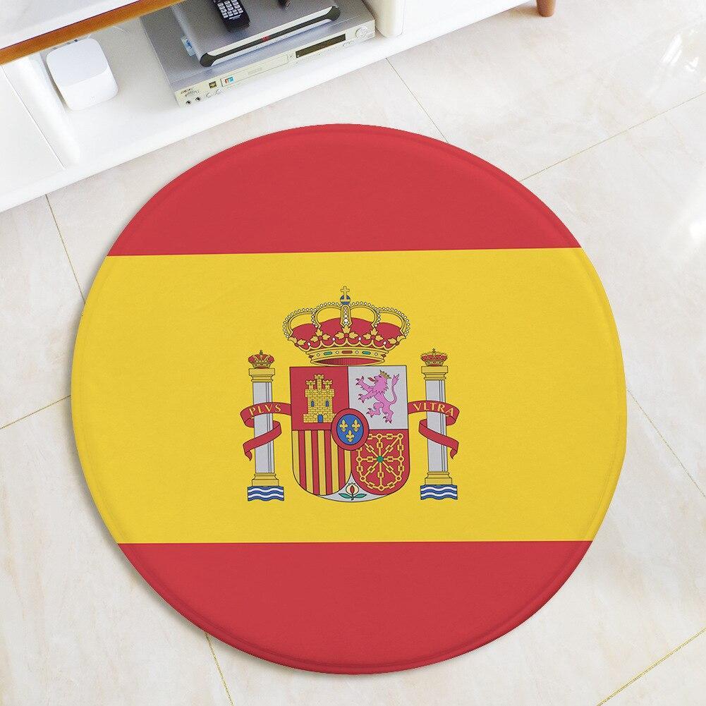 Runder Teppich <br> Spanische Flagge