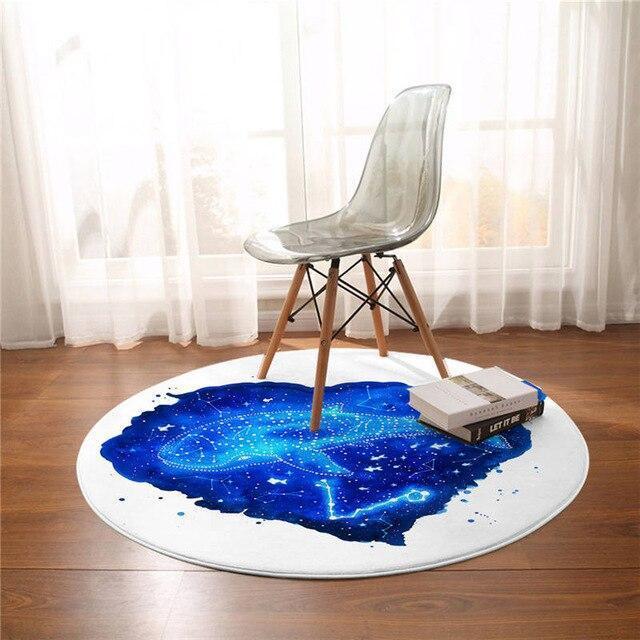 Runder Teppich <br> Sternbild Fisch
