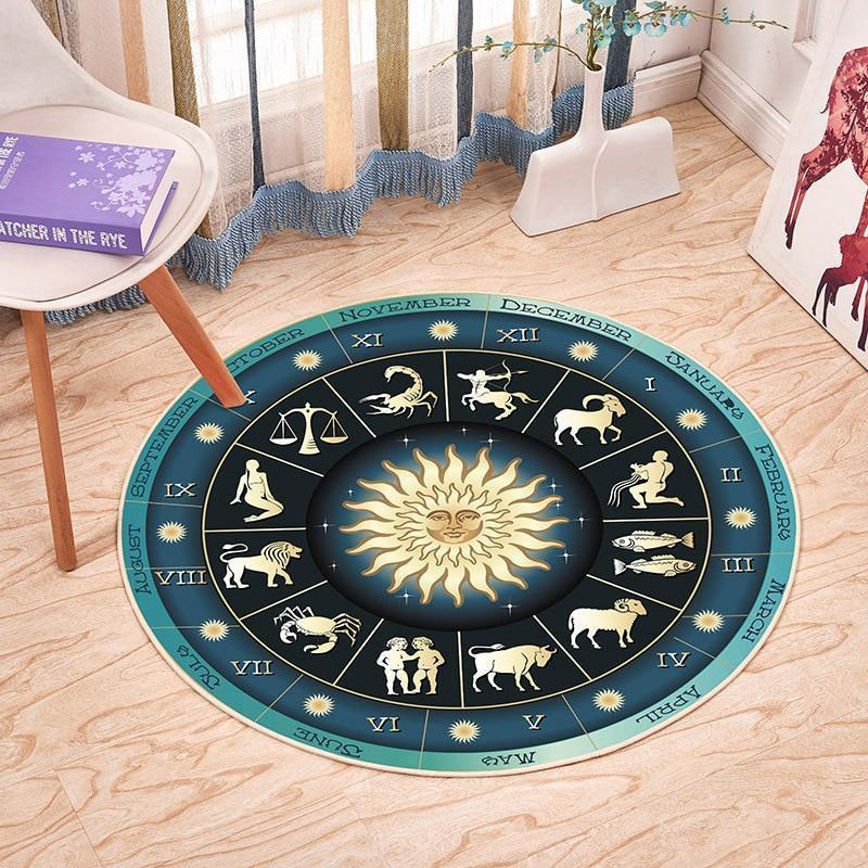 Runder Teppich <br> Sternzeichen