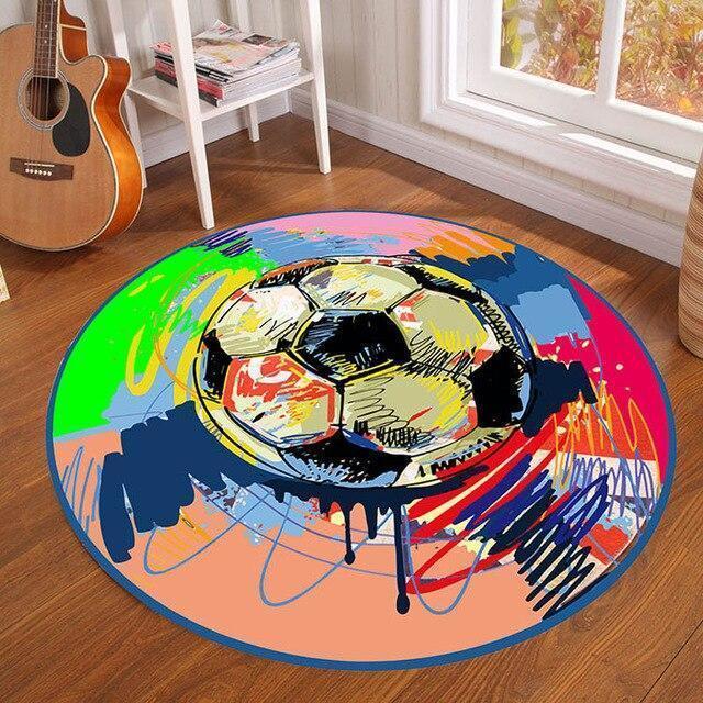 Runder Teppich <br> Straßenkunst