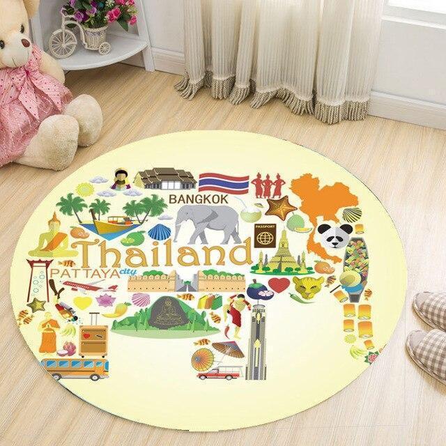 Runder Teppich <br> Thailand