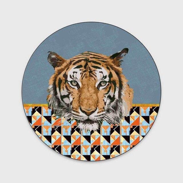 Runder Teppich <br> Tiger