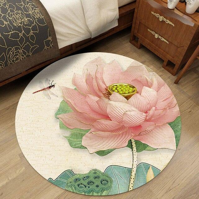 Runder Teppich <br> Traditionell Chinesisch