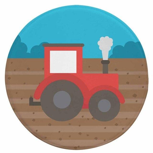 Runder Teppich <br> Traktor