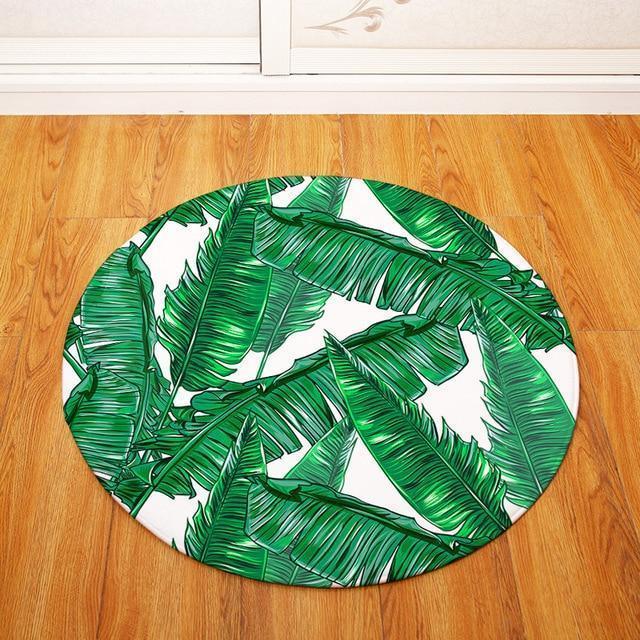 Runder Teppich <br> Tropisch