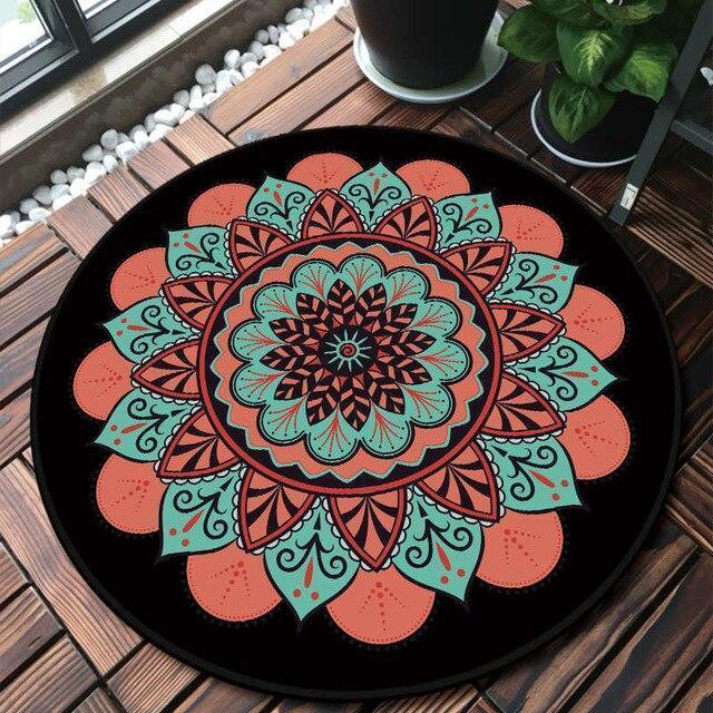 Runder Teppich <br> Typisch Mandala