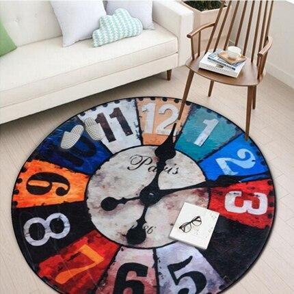 Runder Teppich <br> Uhren der Welt
