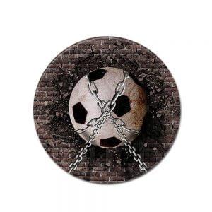 Runder Teppich <br> Verketteter Fußball