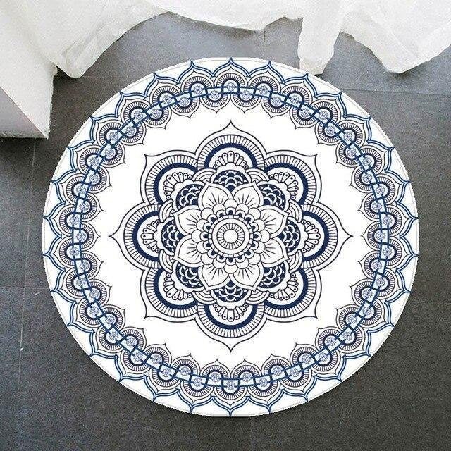 Runder Teppich <br> Vinyl Mandala