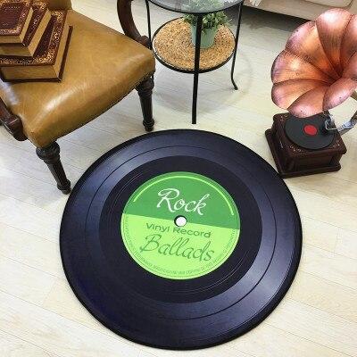 Runder Teppich <br> Vinylplatte