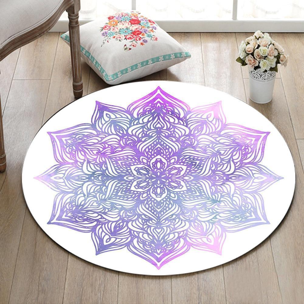 Runder Teppich <br> Violettes Mandala