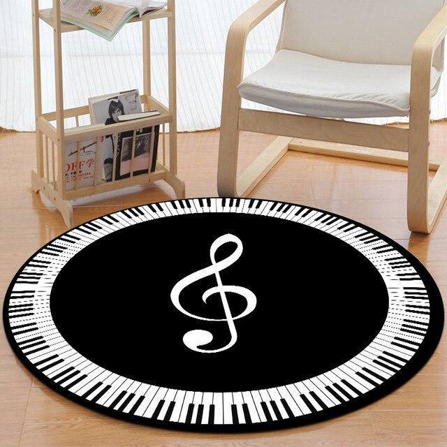 Runder Teppich <br> Violinschlüssel