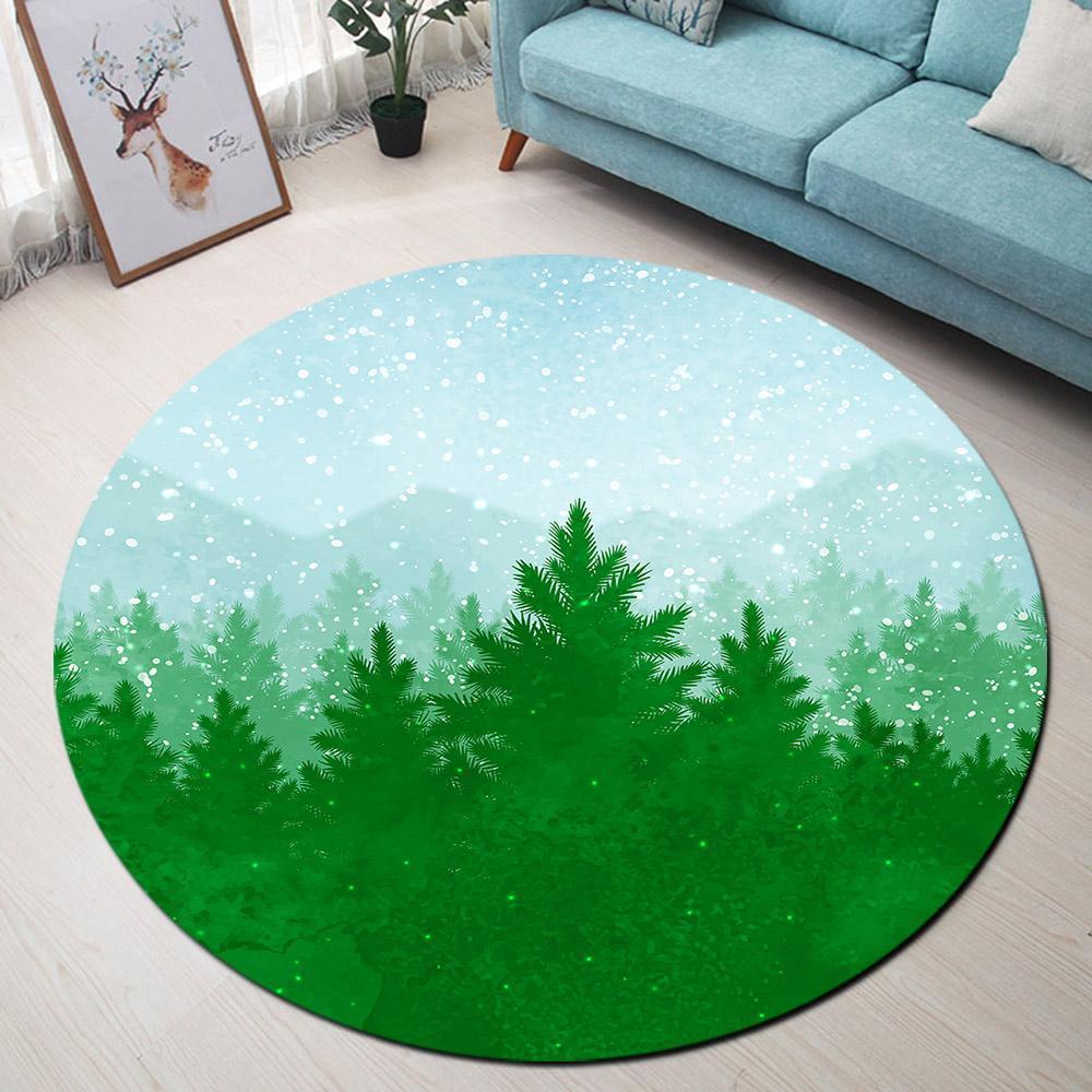 Runder Teppich <br> Wald