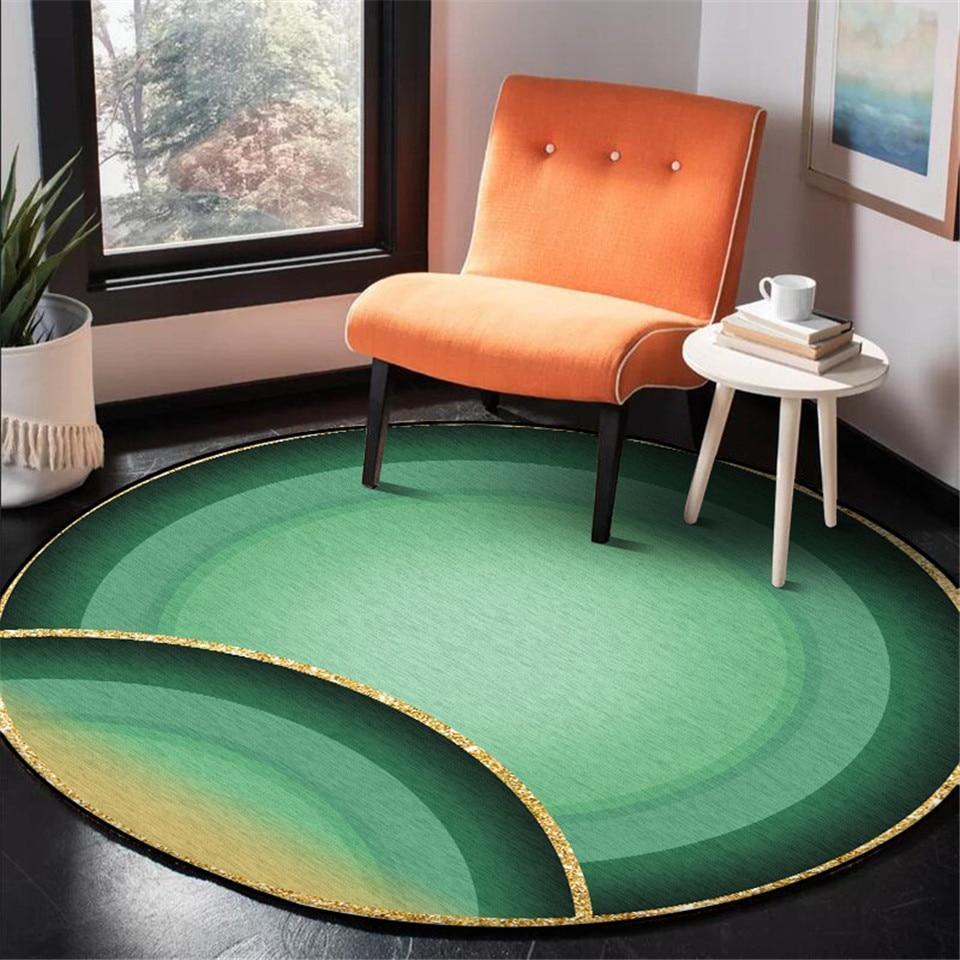 Runder Teppich <br> Wassergün