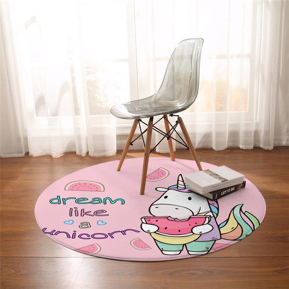 Runder Teppich <br> Wassermelone