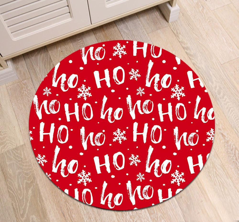Runder Teppich <br> Weihnachten