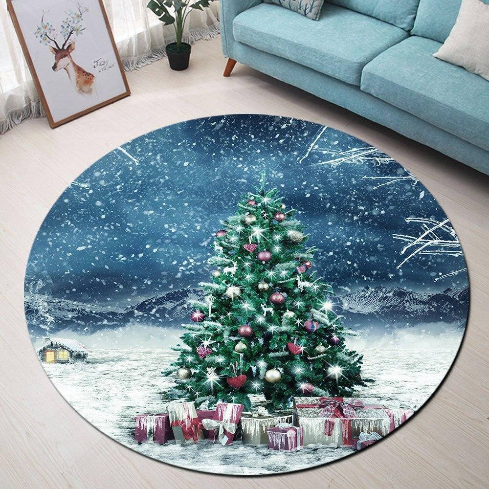Runder Teppich <br> Weihnachtsbaum