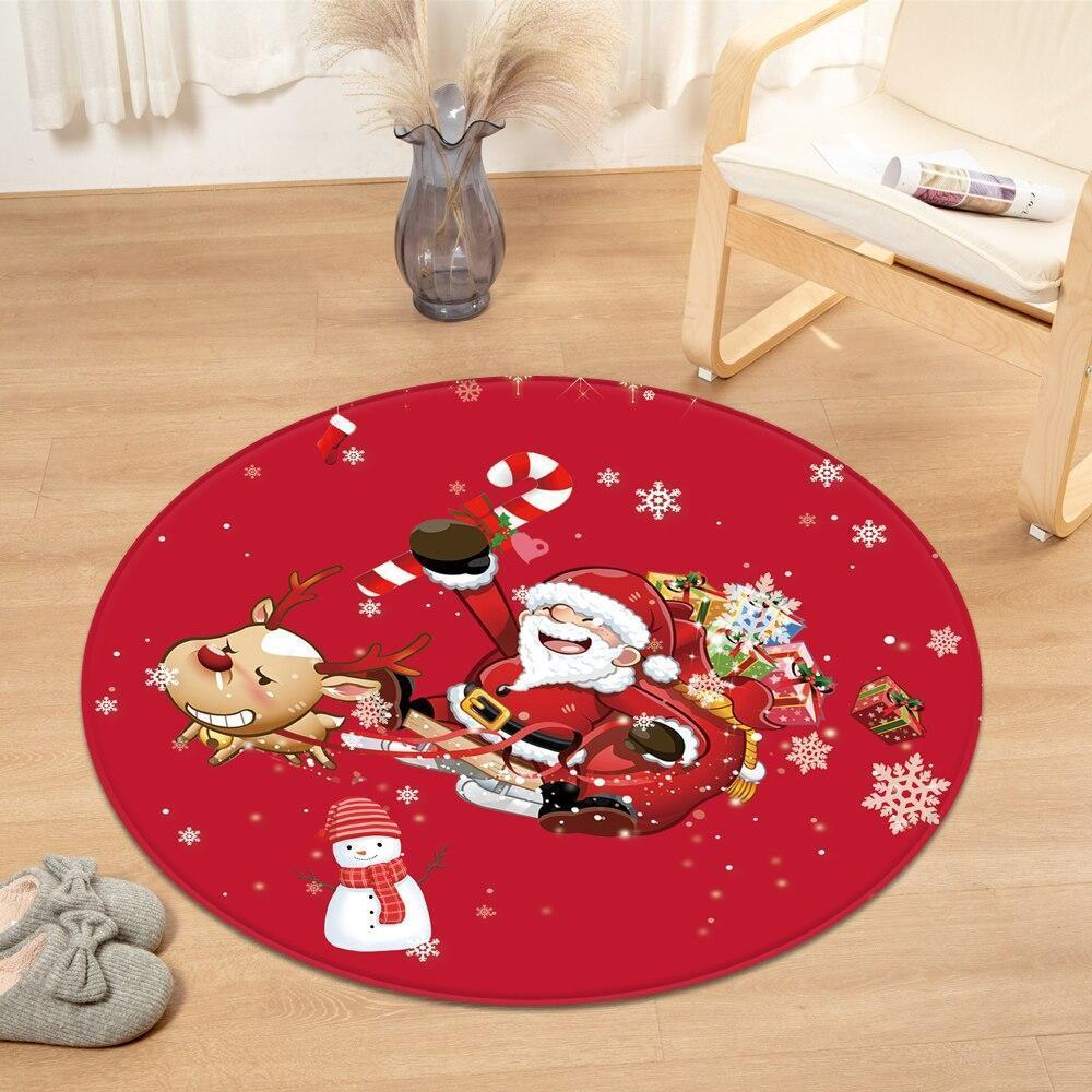 Runder Teppich <br> Weihnachtsmann