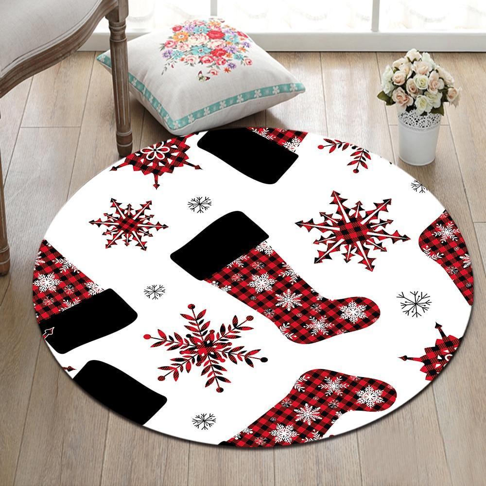 Runder Teppich <br> Weihnachtssocken