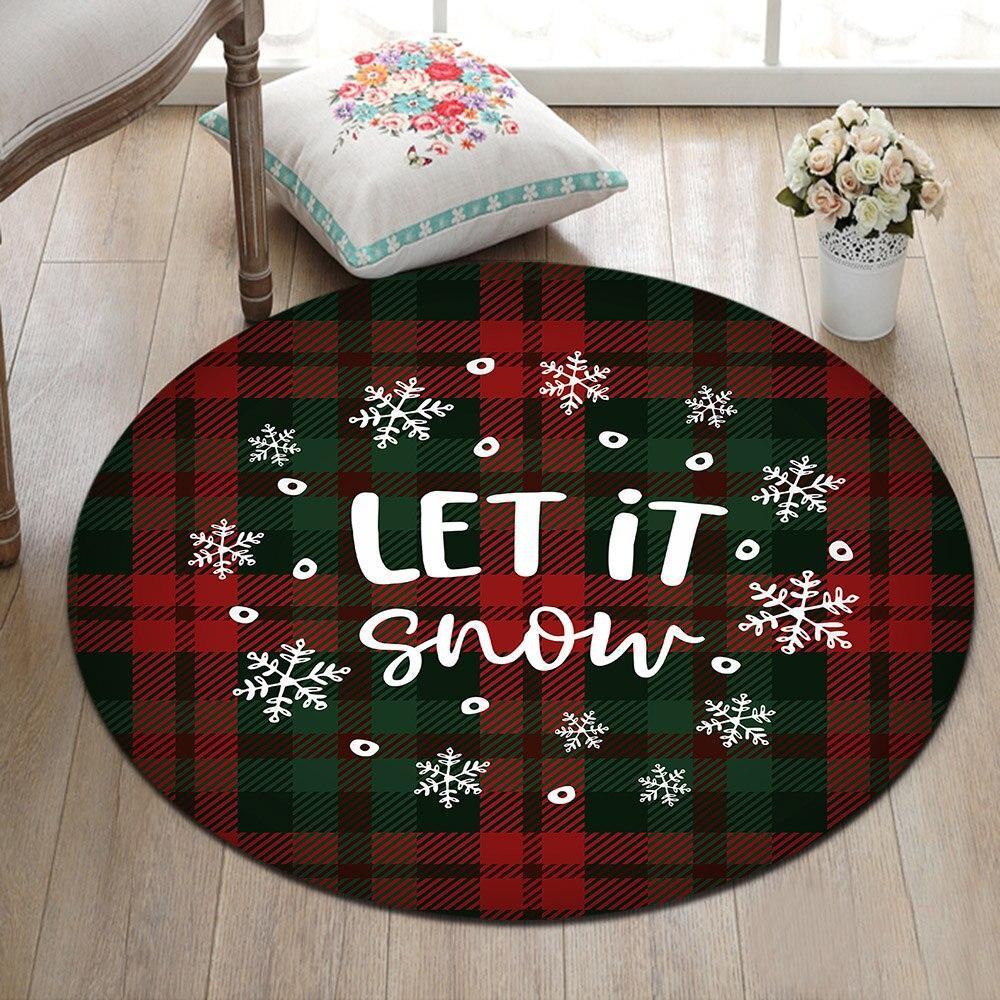 Runder Teppich <br> Weihnachtsthema