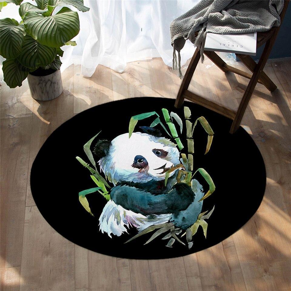 Runder Teppich  <br> Wilder Panda