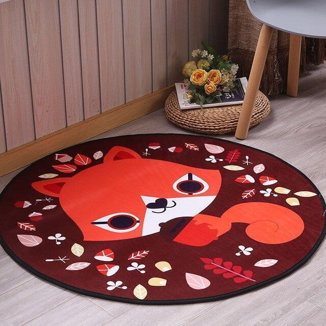 Runder Teppich <br> Wohnzimmer Baby Fuchs