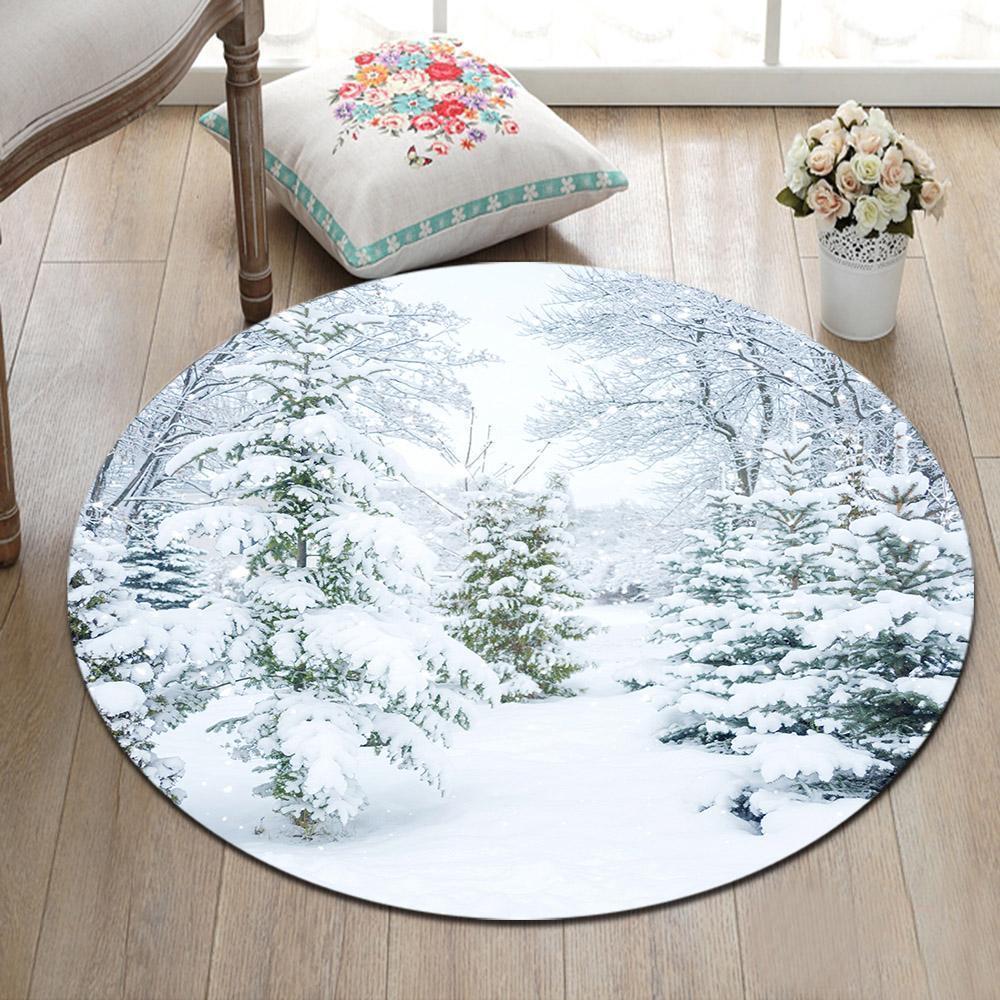 Runder Teppich <br> Wohnzimmer Dekoration