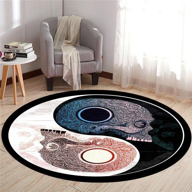 Runder Teppich <br> Wohnzimmer Design