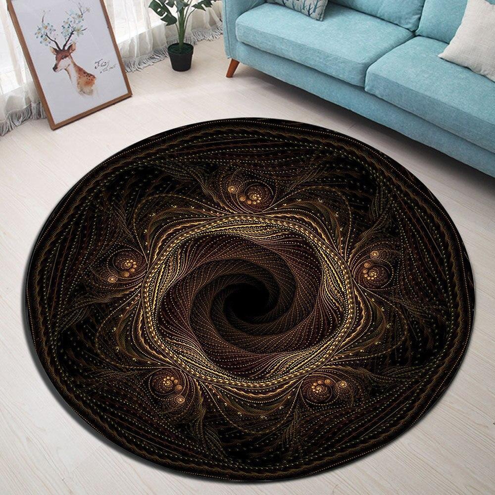 Runder Teppich <br> Wohnzimmer Innenraum