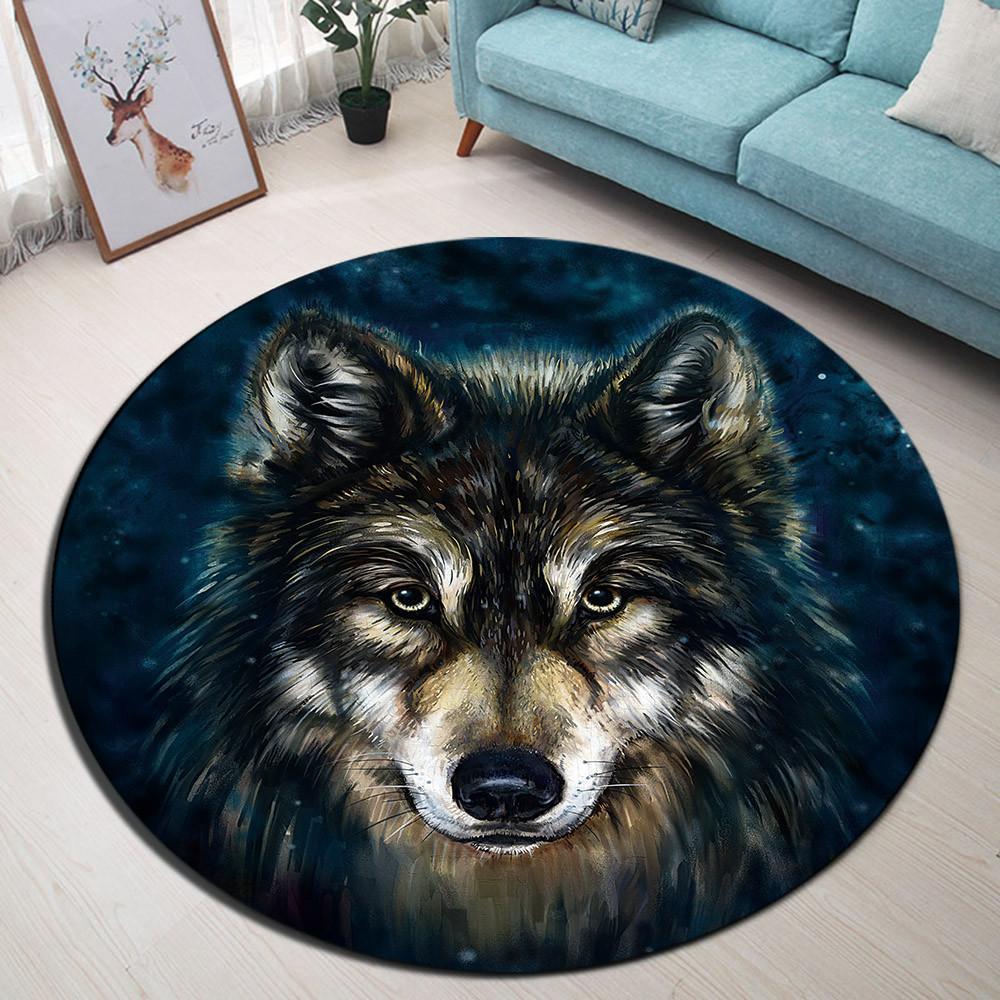 Runder Teppich <br> Wolf