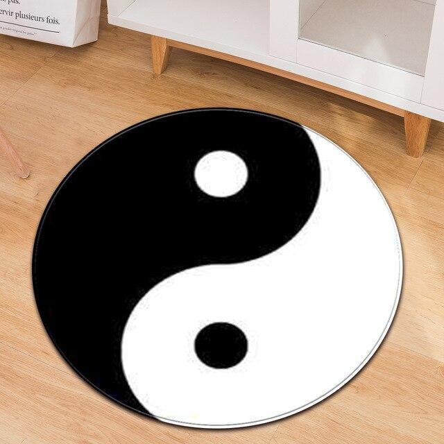 Runder Teppich  <br> Yin-Yang