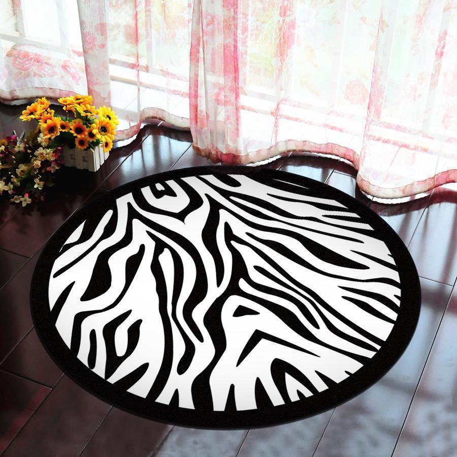 Runder Teppich <br> Zebra