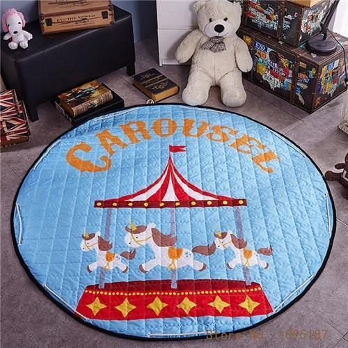 Runder Teppich <br> Zirkus